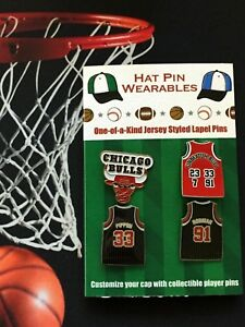 Chicago-Bulls-jersey-lapel-pins-4-Classic-Hardwood-Collectables-Pippen-Rodman