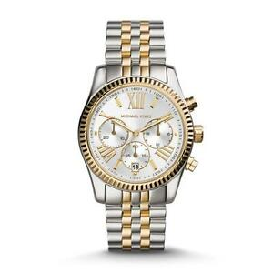 Gold Mk5955 New Two Lexington Watch Silver Tone Kors Ladies Details About Michael BerdCxo