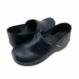 Dansko Womens Clogs Shoes Blue Slip On