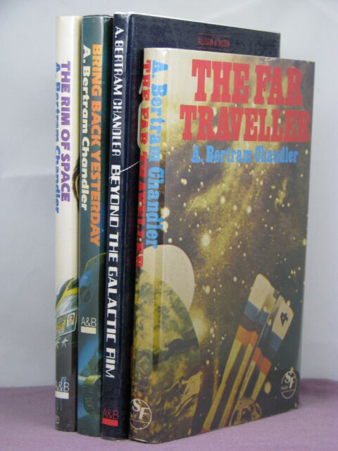 1st/1st HBs, with author signature, 4 books by A Bertram Chandler, Far Traveller