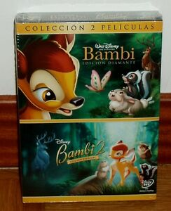 Details about BAMBI EDITION DIAMOND+BAMBI 2 EDITION SPECIAL DISNEY 2 DVD  NEW SEALED R2
