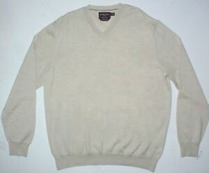 Mens XL Black Brown 1826 V-Neck Knit Sweater Made in Italy Beige ...