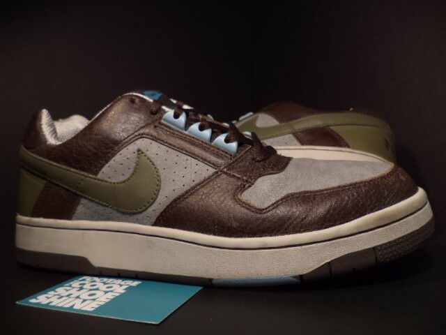 04 Nike Air Delta Force 1 Low BOULDER BROWN LODEN 11 OLIVE GREEN GREY 308752-231 11 LODEN 628330