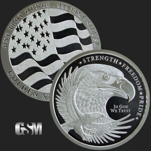 1-1-oz-999-Silver-Round-GSM-Silver-Eagle-Round-Uncirculated-New