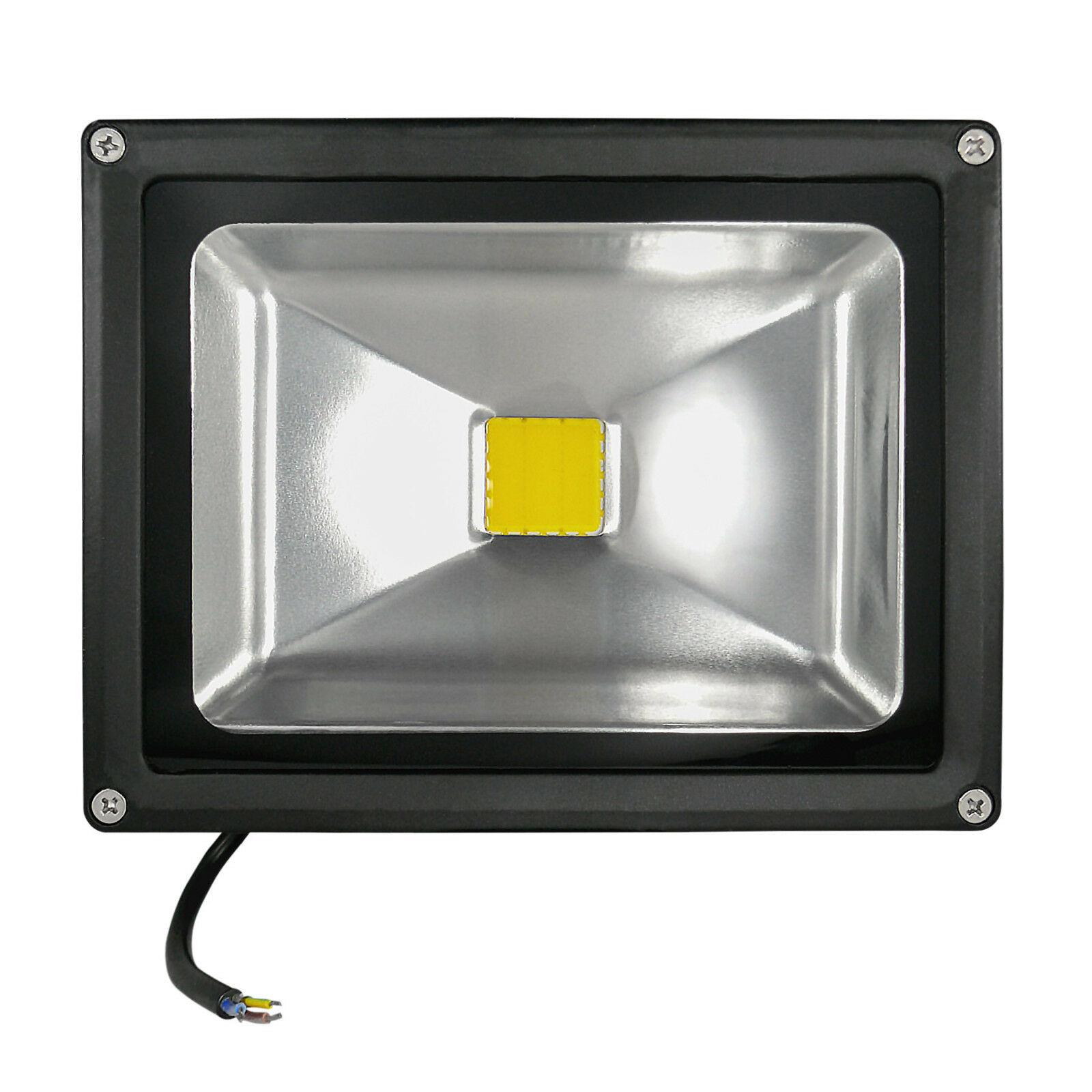 10x LED Fluter LED Flutlicht LED Strahler IP65 50 Watt värmaweiß