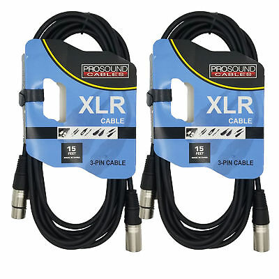 Nice Prosound Cable Audio 15 Foot Mic Cable - Xlr Male To Xlr Female Black .. Big Clearance Sale dual