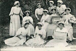 Carte-Groupe-de-Catalanes-lisant-la-Voix-de-Lourdes