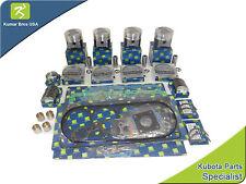 """New Aftermarket Bobcat SKID-STEER S185 """"Kubota V2003-T-E2B"""" Overhaul Kit STD"""