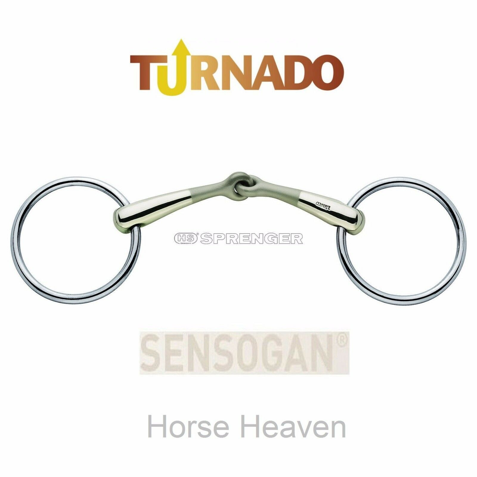 Sprenger Turnado Loose Ring Bradoon Bit, 14mm, All Sizes, New in Sensogan 40286