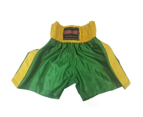 Boxing shorts Green /& Yellow Gold End of line clearance.