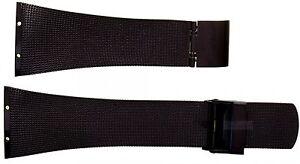Uhrenarmband-fuer-Skagen-Ersatzband-fuer-562SBB-Uhrenarmband-Mesh-Edelstahl-schwar