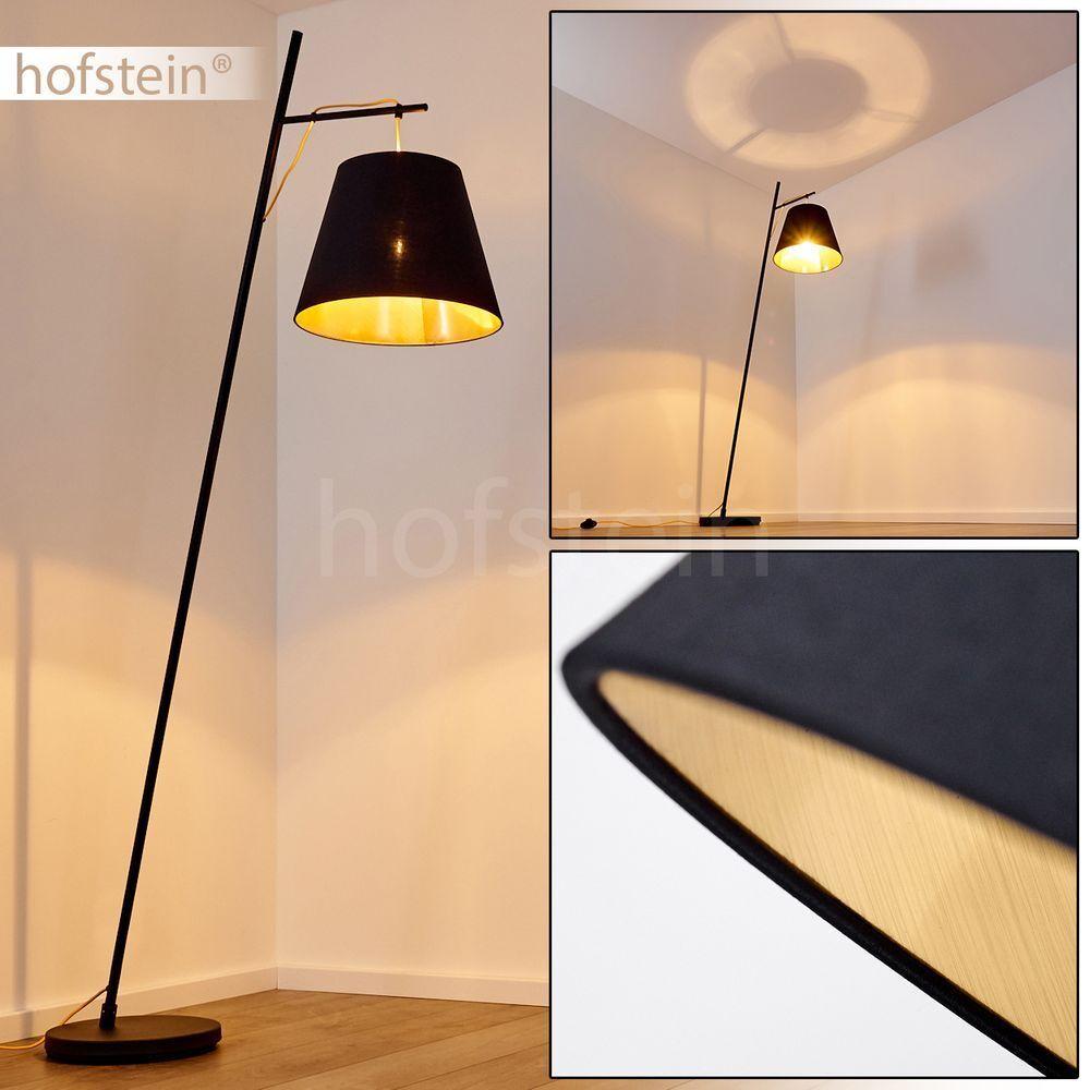 Moderne Lese Wohn Schlaf Zimmer Beleuchtung schwarz Gold Steh Boden Stand Lampen