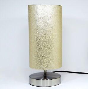 Gold Glitter Lamp Light Lampshade Bedside Table Desk Girls ...
