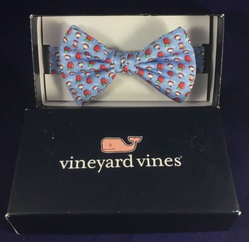 Vineyard Vines Boys Bow Tie Bobber Apples Red Pre-Tied Adjustable New In Box A1