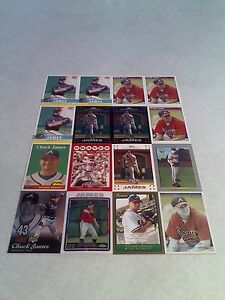 Chuck-James-Lot-of-50-cards-18-DIFFERENT