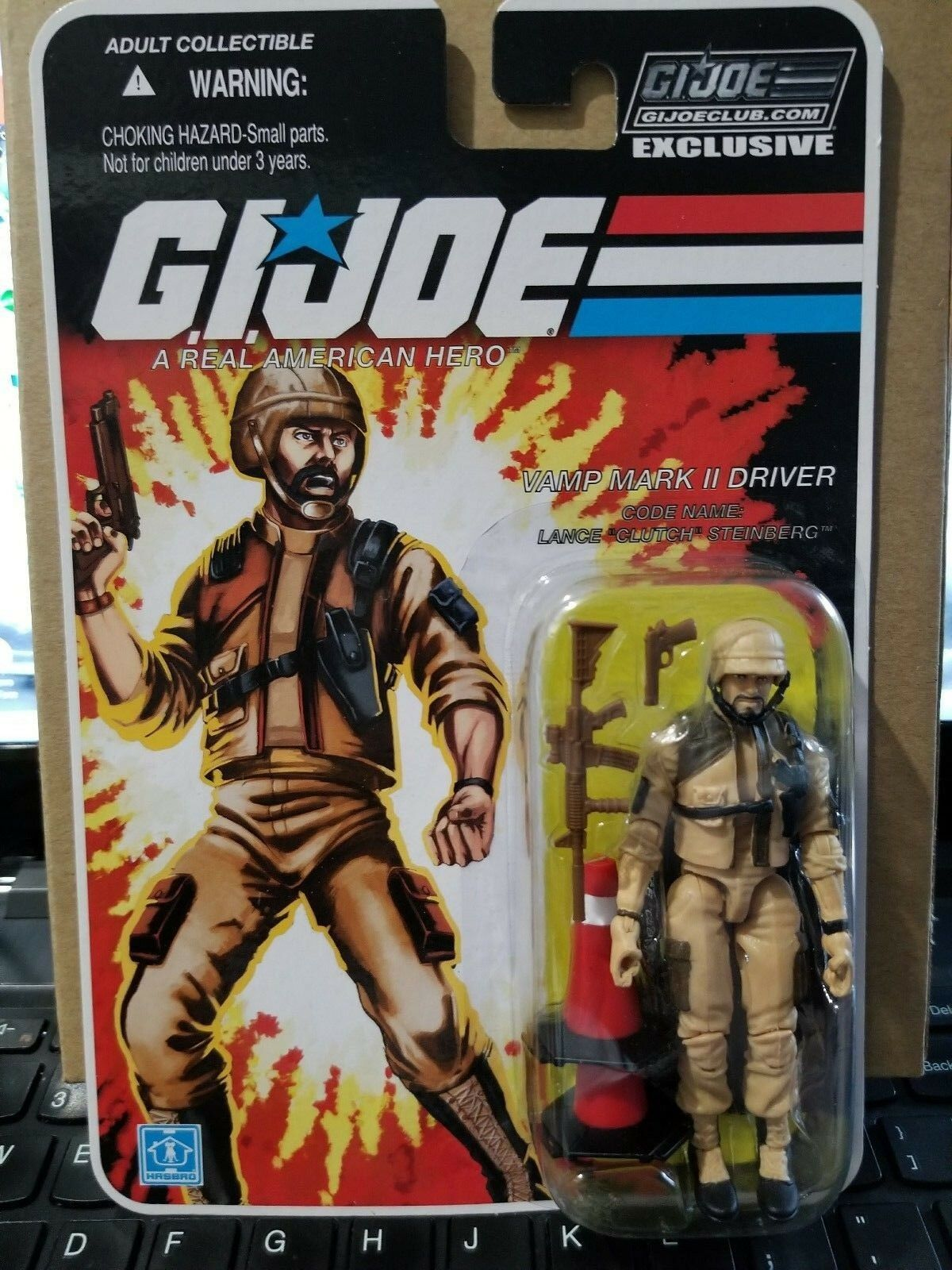 GI Joe FSS 8.0 Tan Clutch Vamp Mark 2 Driver Collector's Club Modern 25th Era