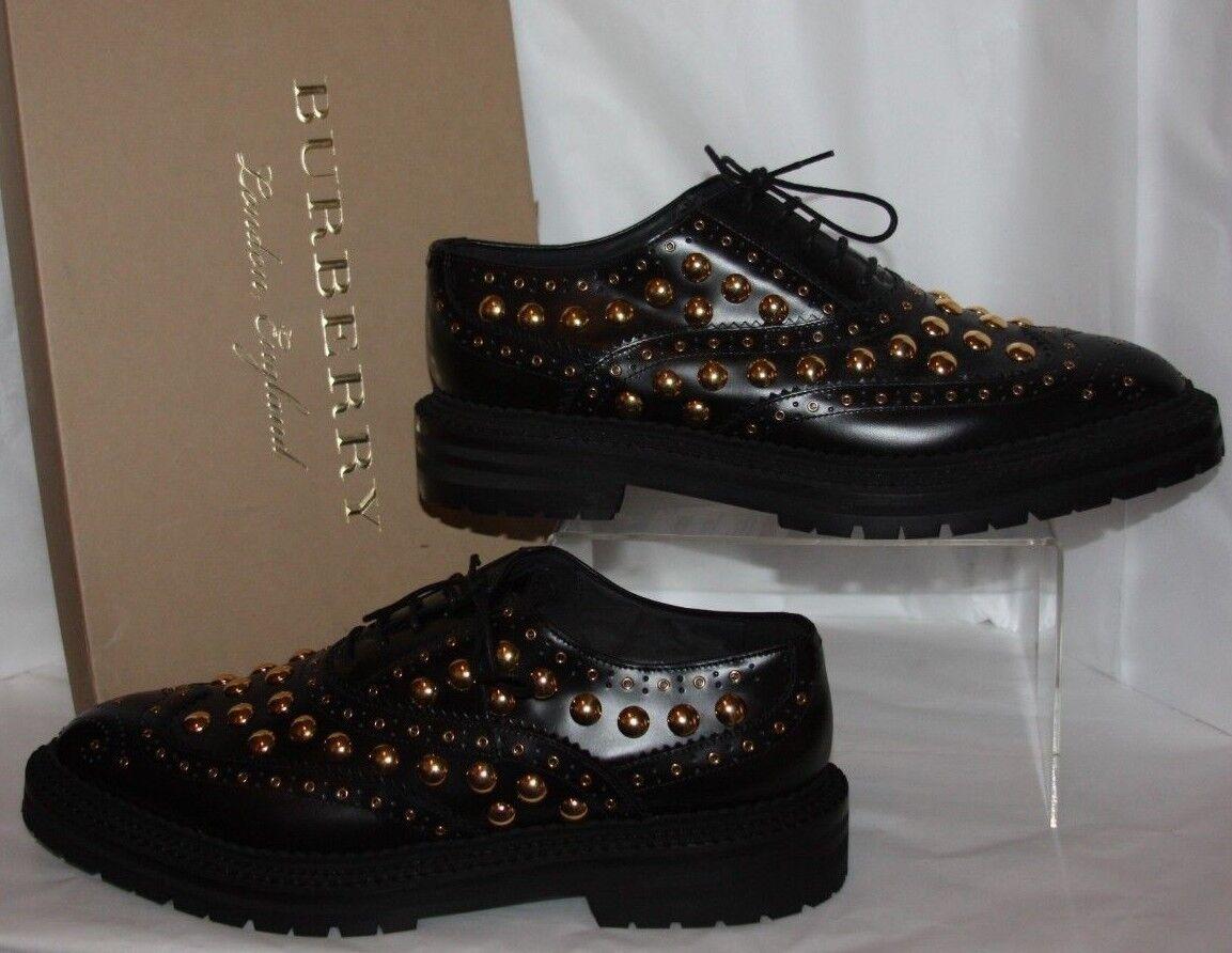 Burberry Deardown Black Oxford women's size size women's 8.5 m Euro 38.5 retail 1095.00 36381d