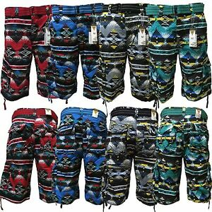 Men-039-s-Focus-Belted-Cargo-Shorts-4-Colors-Sizes-30-to-44
