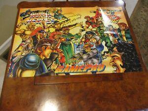 Art Of Fighting World Heroes Snes Genesis Foldable Promo Poster Insert Only Ebay