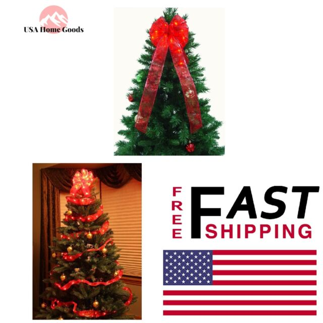 9 In. Red Ribbon Bow Christmas Tree