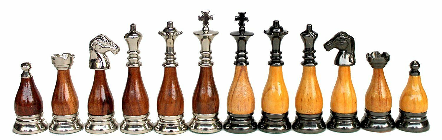 3.5  re Height Collector Collector Collector  Brass e Wooden Chess Chessmen Coins cifra Pcs. 6b3f06