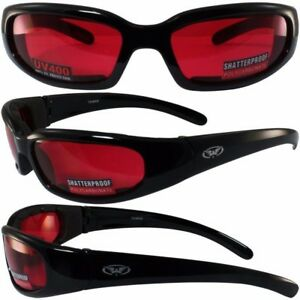 73ab634a60d2 Image is loading Global-Vision-Chicago-RED-LENS-Foam-Padded-Motorcycle-