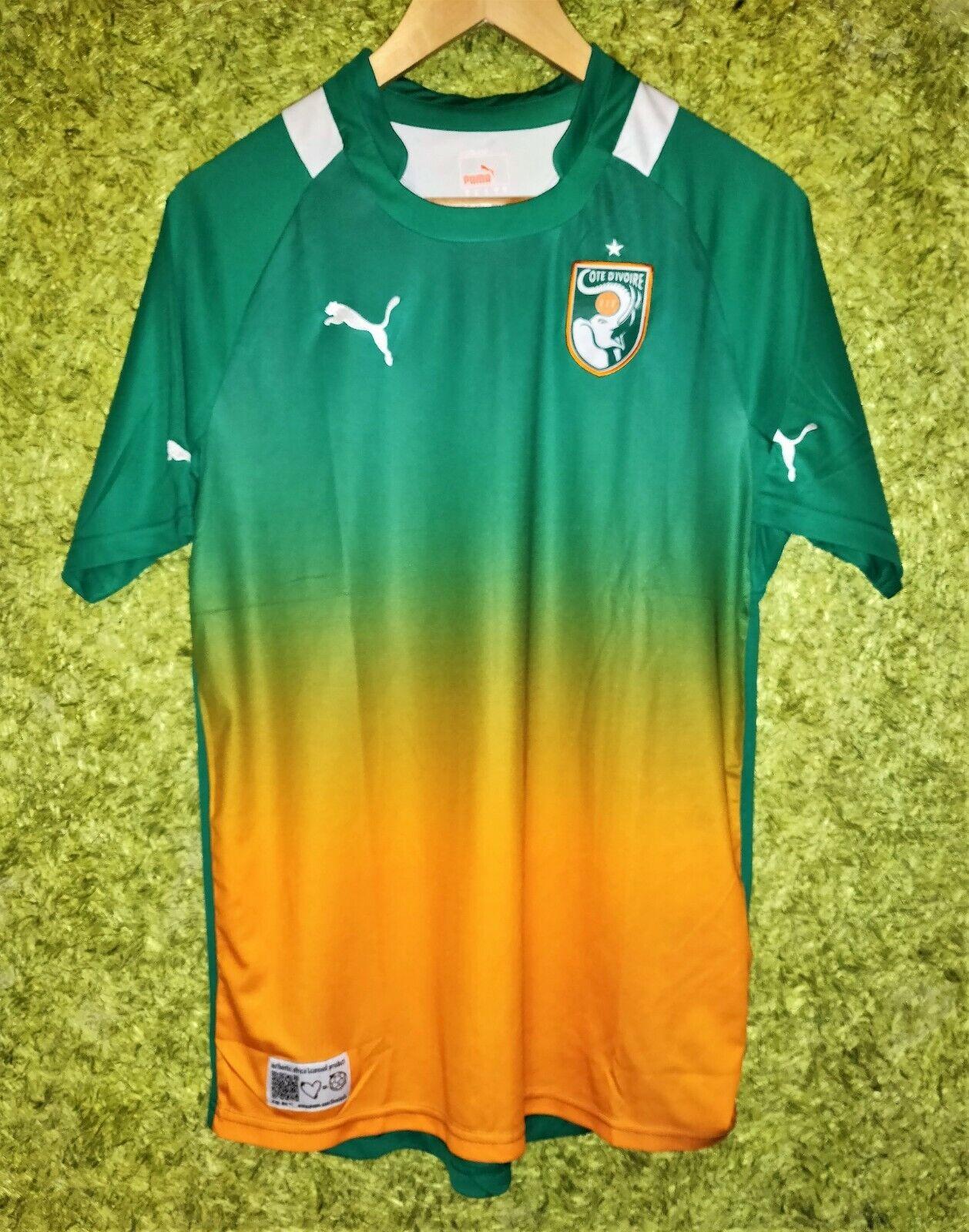 IVORY COAST Côte d'Ivoire 2011 2013 AWAY NATIONAL FOOTBALL TEAM SHIRT JERSEY (M)