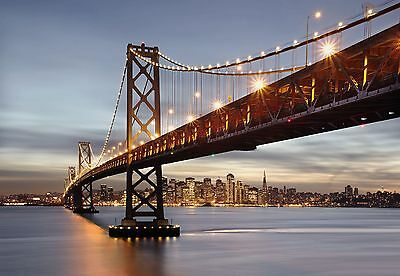 Wall Mural BAY BRIDGE photo Wallpaper Large size wall art SAN FRANCISCO