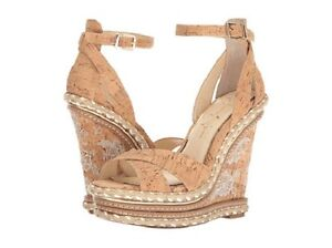 abb9b87b42 NIB Jessica Simpson Ahnika Platform Wedge Sandal in Natural Cork | eBay