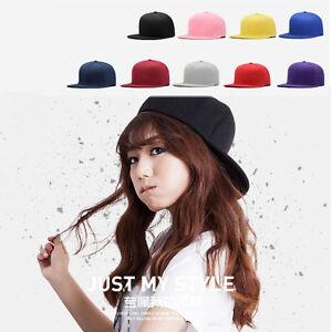 Unisex-Women-Men-Blank-Baseball-Cap-Plain-Boy-Snapback-Hats-Hip-Hop-Adjustable