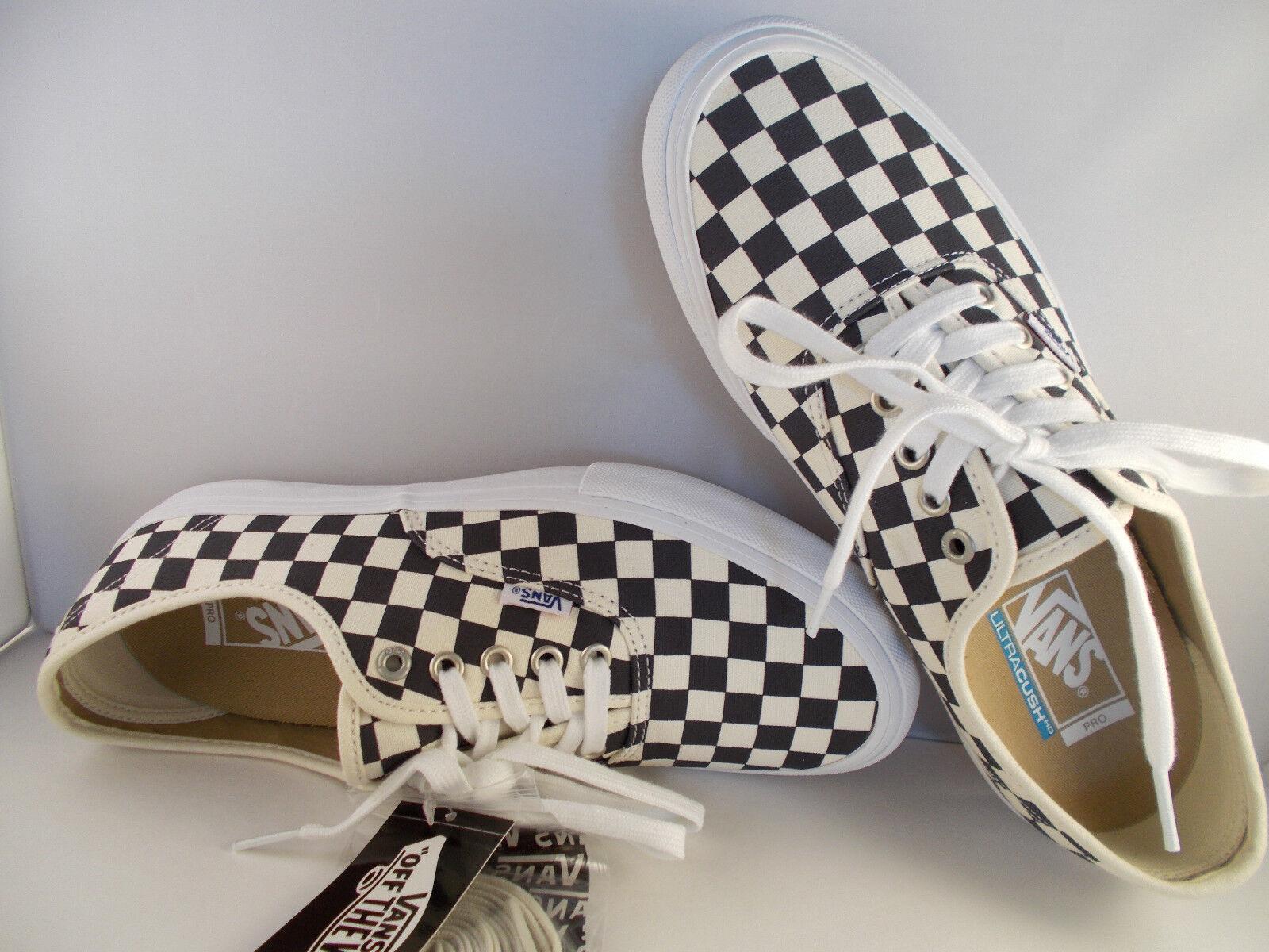 VANS Authentic Pro Checkerboard Navy Ultracush Skateboarding Shoes Men Sz 11