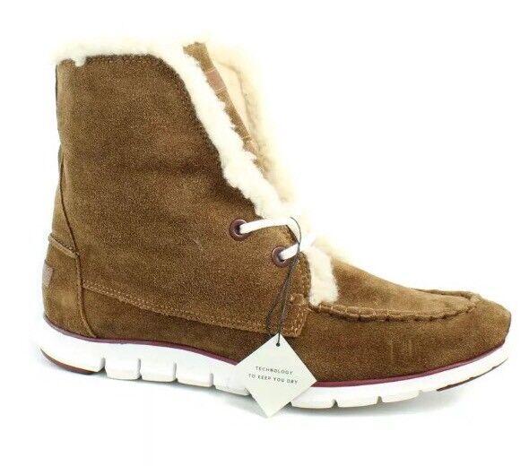 Cole Haan Zerogrand Brown Suede Women Shearling Chukka Boot Size 10B 8440