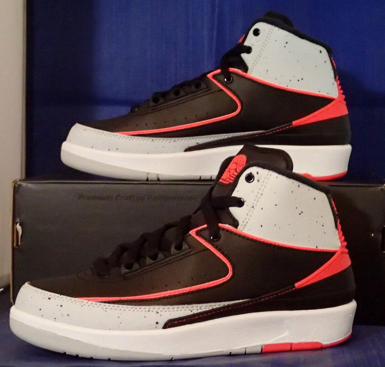 Nike Air Jordan 2 II Retro Noir Infrared 23 blanc SZ 9