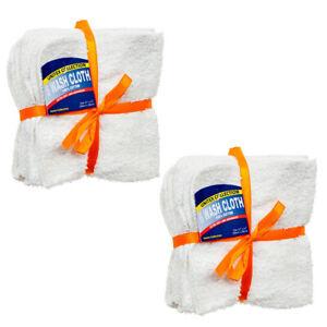 1-Dozen-white-100-cotton-hotel-wash-cloths-11x11-washcloth-white-Towel-12-pcs