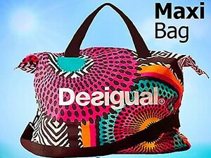 Desigual-Womens-Designer-Gym-Travel-Tote-Shoulder-Handbag-Ladies-Dress-Bag