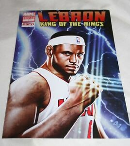 18b6837e60d LeBron James 2012 Marvel Comics King of the Rings Custom Edition 1 ...