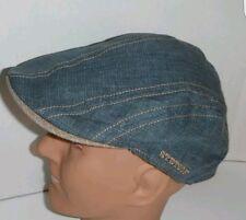 NEW Stetson 100% linen lightweight duck bill ivy/flat cap size large  FREEPOST