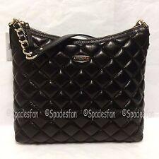 Kate Spade Wkru2563 Gold Coast Medium Serena Quilted Leather Bag Purse Black