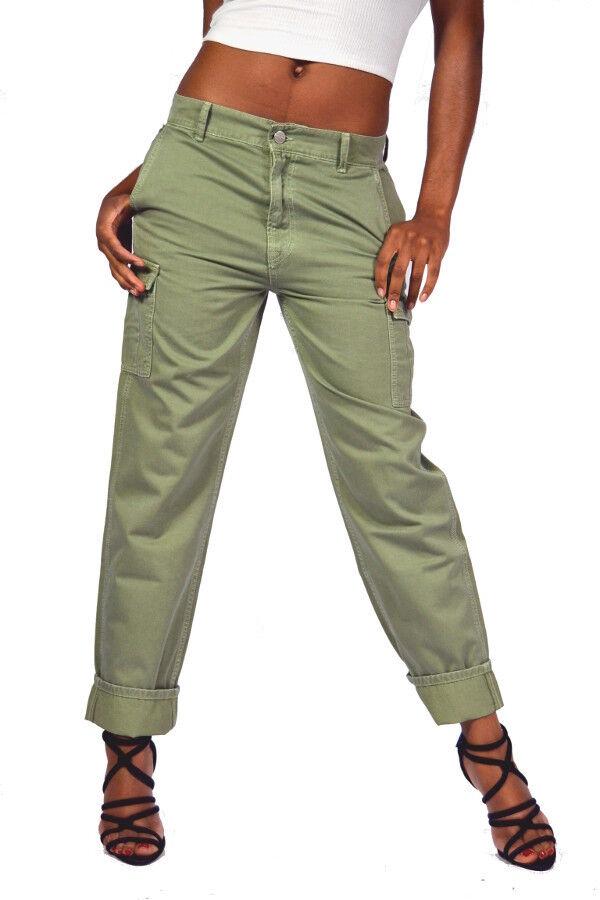 Pepe Jeans COMBAT BOYFRIEND khaki Cargo Jeans 100% Baumwolle Maße beachten