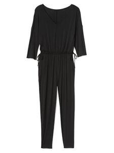 1ee8e3110cc Gap Black Three Quarter Length Sleeve Waist Tie Jumpsuit 4 6 S ...
