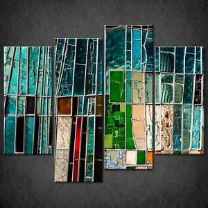 STAINED-GLASS-ABSTRACT-DESIGN-CANVAS-PRINT-PICTURE-WALL-ART-FREE-DELIVERY