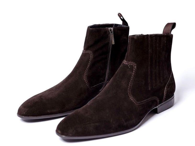 Hugo Boss de gamuza botas Navero s nuevo 42 botas zapatos Business 8 9 Suede