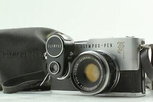 Exc3-mit-Tasche-Olympus-Pen-F-Haelfte-Flamme-Kamera-38mm-f-1-8-Objektiv-Belichtungsmesser-JAPAN