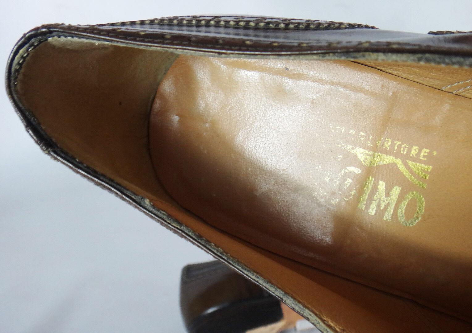 Salvatore Salvatore Salvatore Ferragamo braun Leather 8d wingtip vtg loafer men 3b80cc