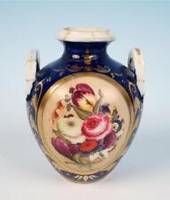 Early 19th C. Derby Porcelain Small Cabinet Urn Vase Cobalt Antique Royal Crown