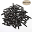 "Kalolary 100pcs 1//4/"" Universal Barbed Tee Fittings Barbed Connectors Drip Irrig"