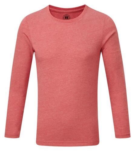 BLUE PINK GREEN PURPLE RED Boys Childs Kids Long Sleeve T-Shirt Tshirt