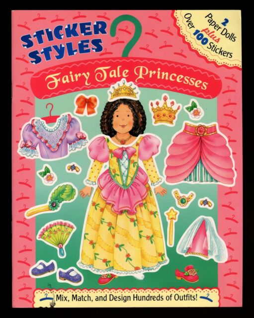Fairy Tale Princesses - 100 Stickers & 2 Paper Dolls - NEW - Free S/H Offer *
