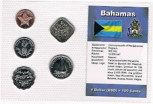 BAHAMAS-KMS-1-Cent-25-Cents-1992-2004-KMS-Alb-3