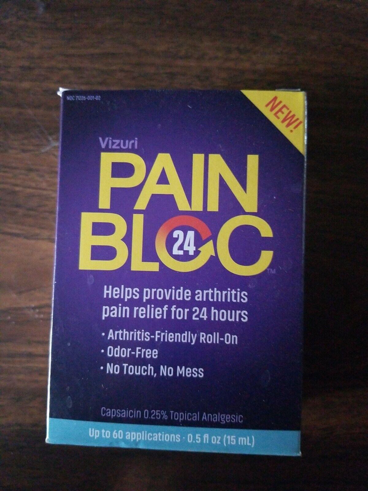 PainBloc24 Arthritis Pain Relief. Long Lasting Relief Topical... for sale  online